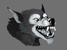 Werewolf head by The-Antler