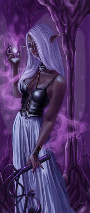 Drow priestess for Kanuka by niji707