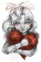 be my valentine - card by niji707