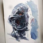 Ultron - watercolours