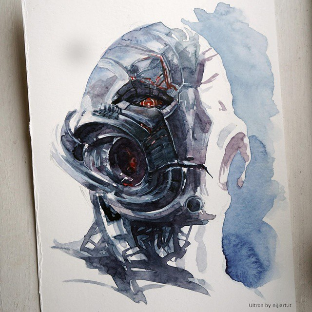 Ultron - watercolours by niji707