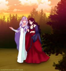 Celebrian + Arwen by JayEyBee