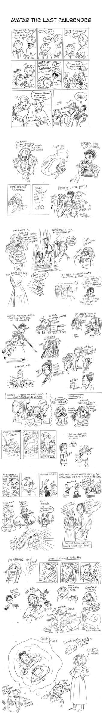 Airbender Movie Sketches by secondlina
