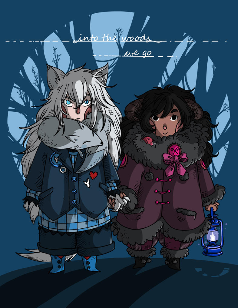 Wolf and Ram by secondlina