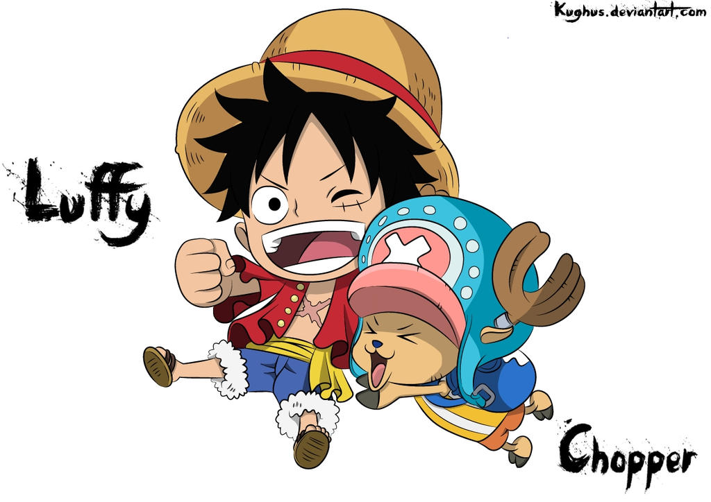 Chibi Luffy And Chopper by Kughus on DeviantArt