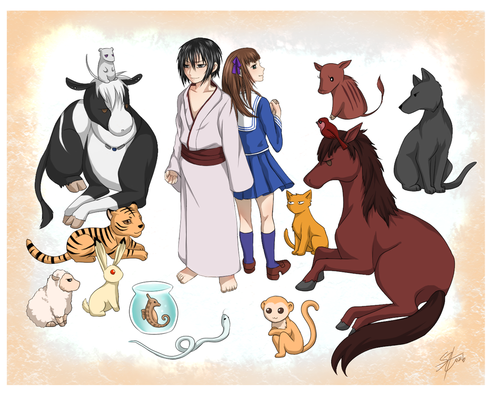 Fruit basket: Chinese zodiac signs by Marshcold on DeviantArt