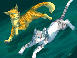 Warriors: Ivypool and Fernsong by Marshcold