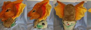 Copper dragon costume head