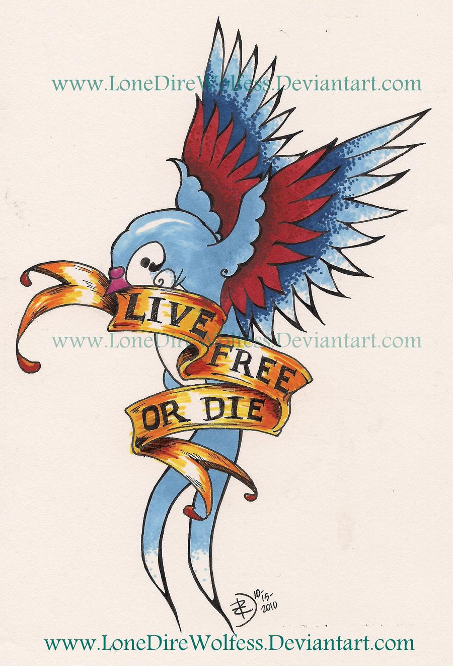 live free or die by lonedirewolfess on deviantart. Black Bedroom Furniture Sets. Home Design Ideas