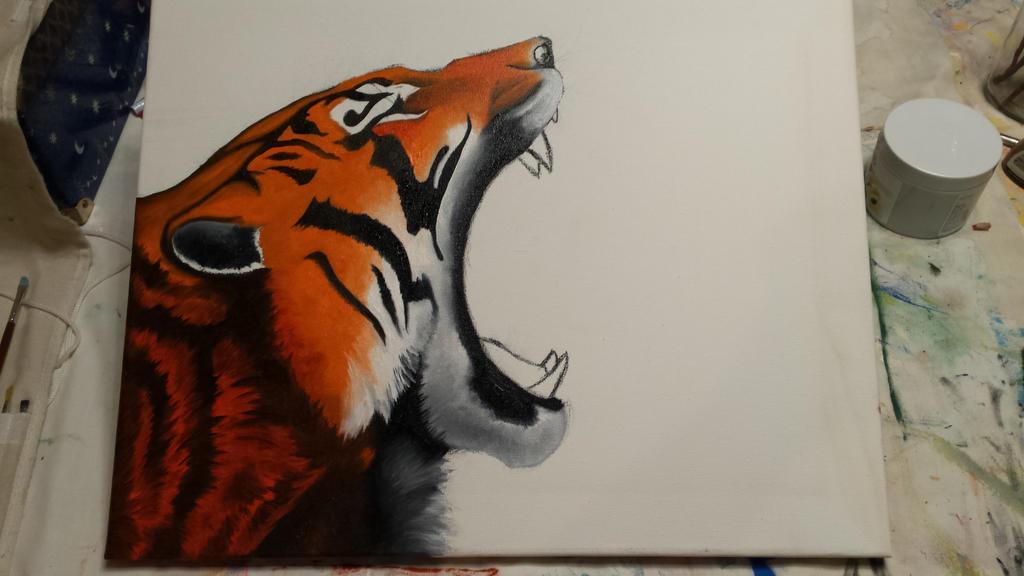 Tiger WIP by LoneDireWolfess