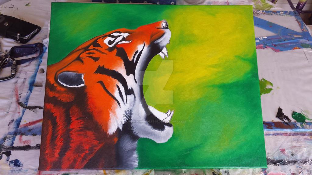 Tiger WIP 2 by LoneDireWolfess