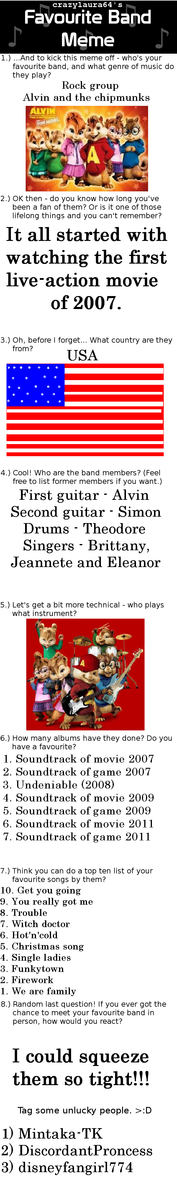 Favourite Band Alvin And The Chipmunks By Unknownrussainrat On Deviantart