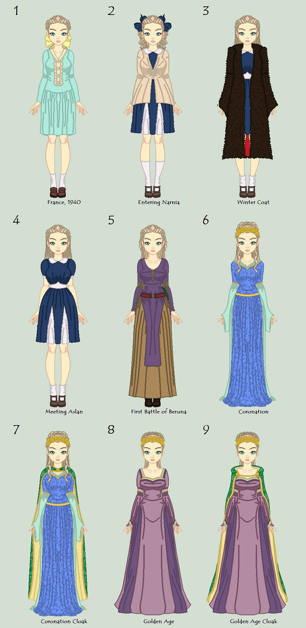 The Lion, The Witch, and The Wardrobe Outfits by HopeAndHeartache