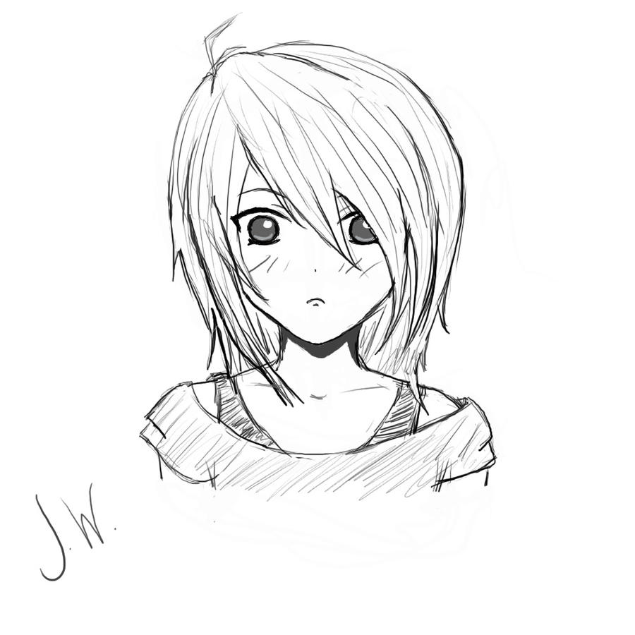 Girl Sketch by flamingheart777 on DeviantArt