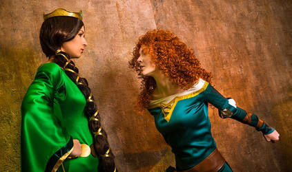 [Elinor and Merida - Brave] by MonstroINC