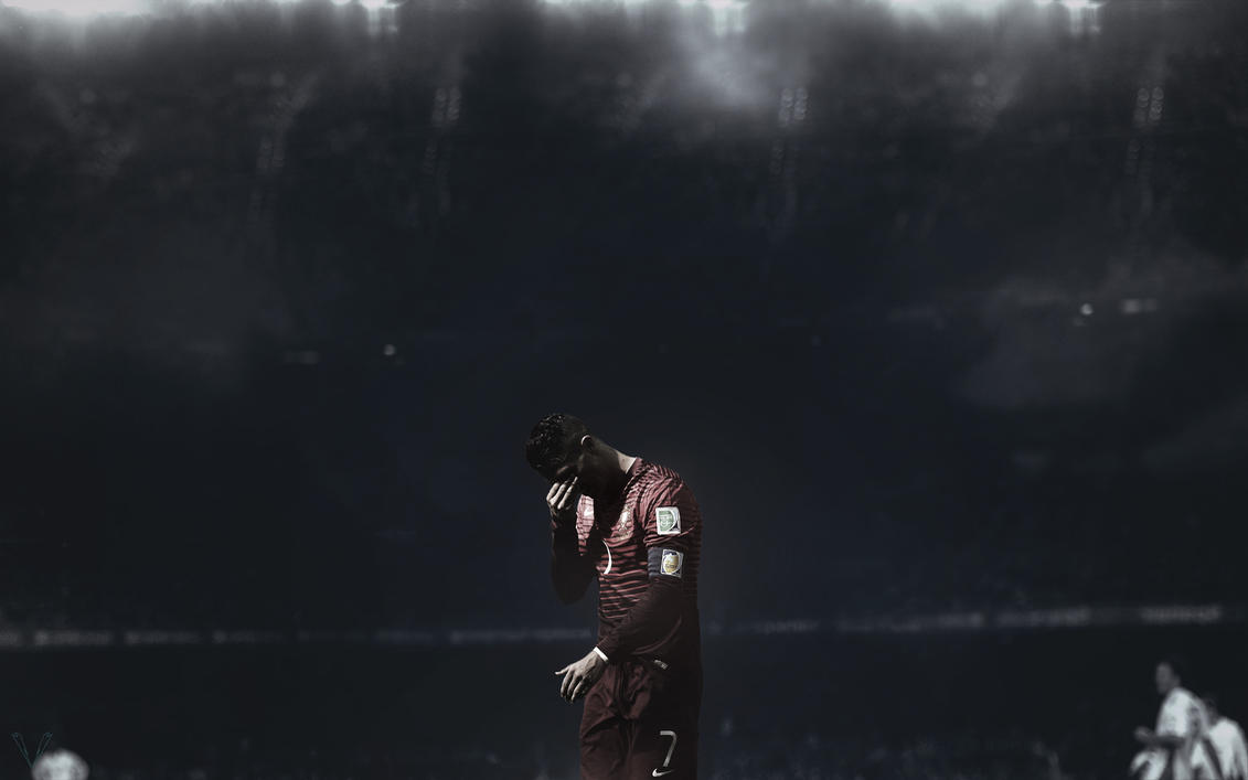 Cristiano Ronaldo Sad Moment Wallpaper by SKL7 on DeviantArt