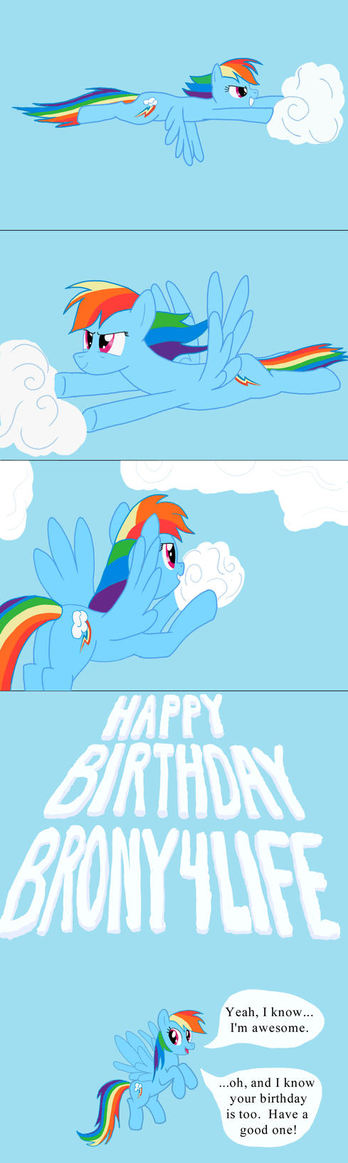 Rainbow Dash's 20% Cooler Skywriting by narfpinky