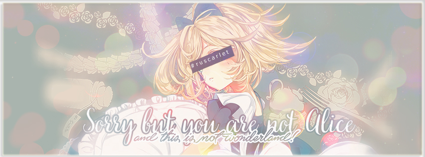 Cover Facebook - You are not Alice by RuScarlet