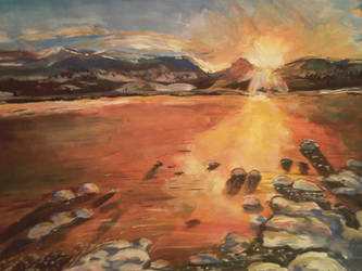 Sunset over Cairngorns by Art-By-Ashley-Martin