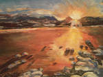 Sunset over Cairngorns