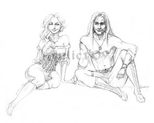 Drizzt and Catti-brie by CurlyJul