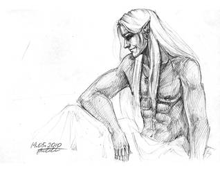 Bed scene_2_Drizzt by CurlyJul