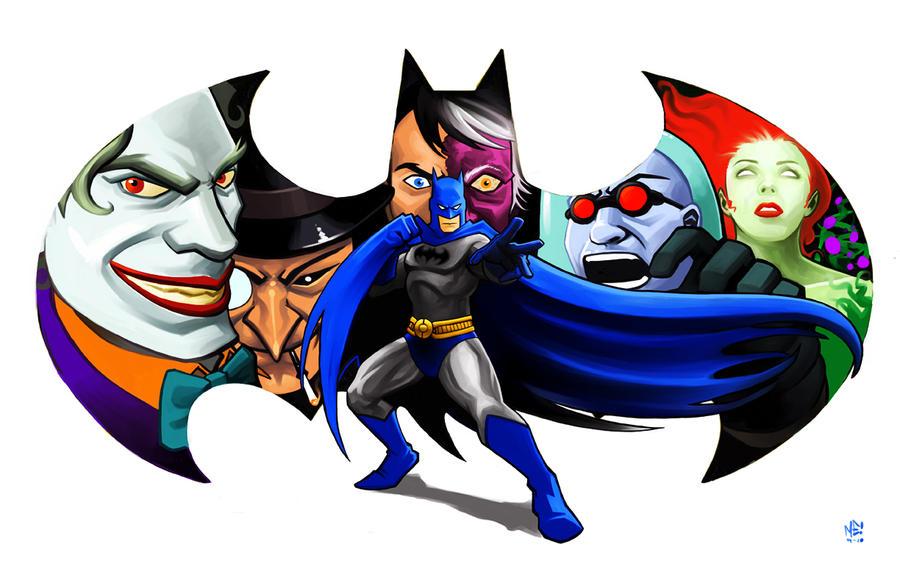 Batman and Company by MasonEasley