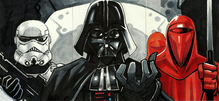 Star Wars Imperial sketch card by MasonEasley