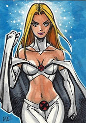 The White Queen Sketch Card by Yasuke-Uno