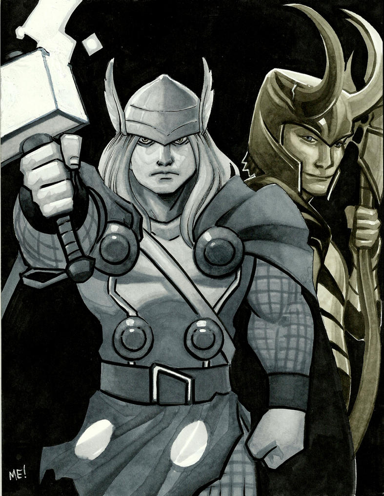 Thor and Loki Markers by MasonEasley