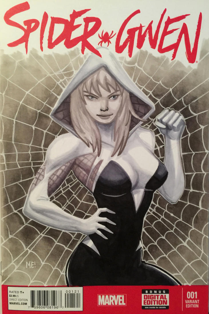 Spider Gwen Sketch Cover by MasonEasley