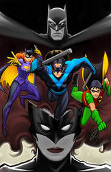 Batman Family (Color) by MasonEasley