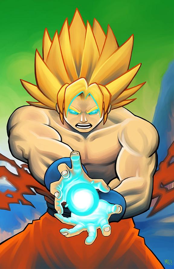 SS Goku on Namek by MasonEasley