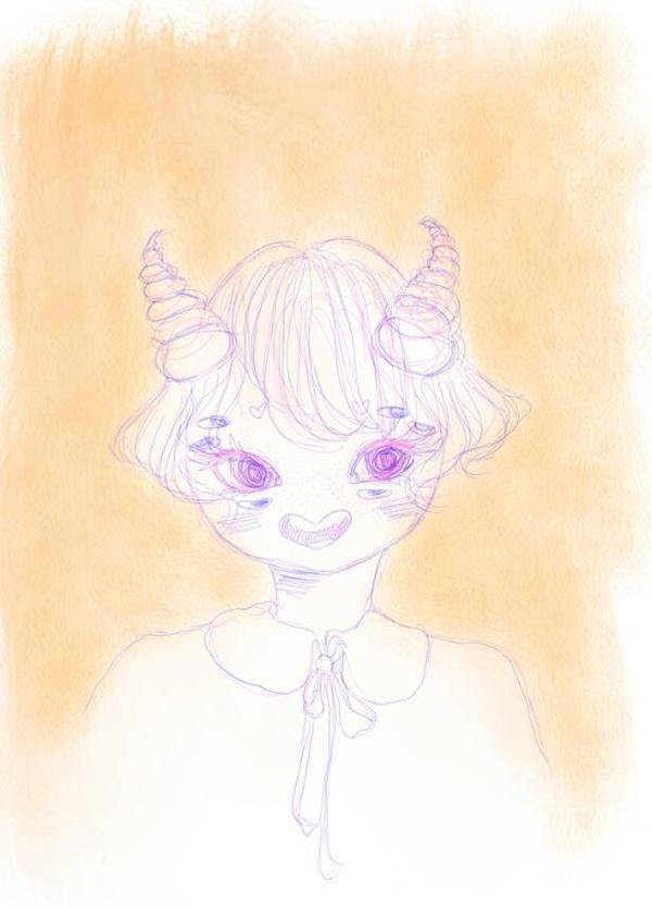 Manic monster sketch by PastelOphelia