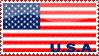 'USA Flag' Stamp