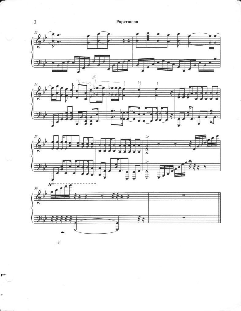 piano score paper