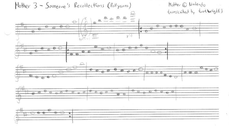 Pollyanna piano sheet music