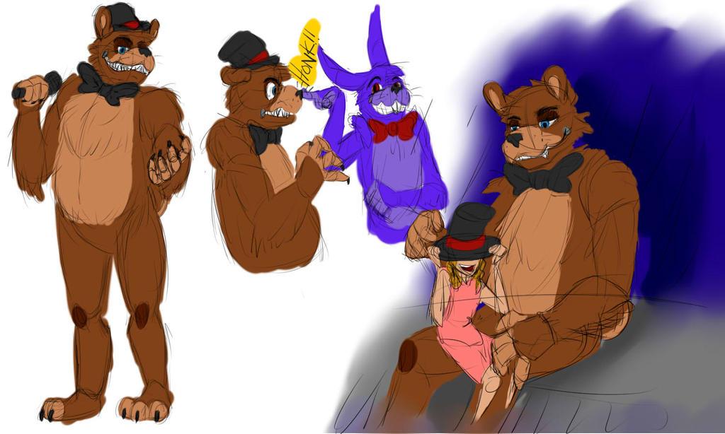 Freddy Sketches by XenoLuv