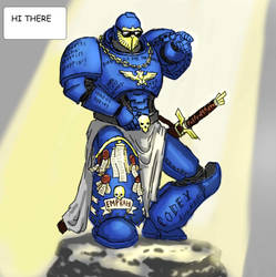 Astartes Poppin, Heretics Droppin by thecrowspear