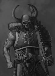 Khorne Skull Hunter by thecrowspear