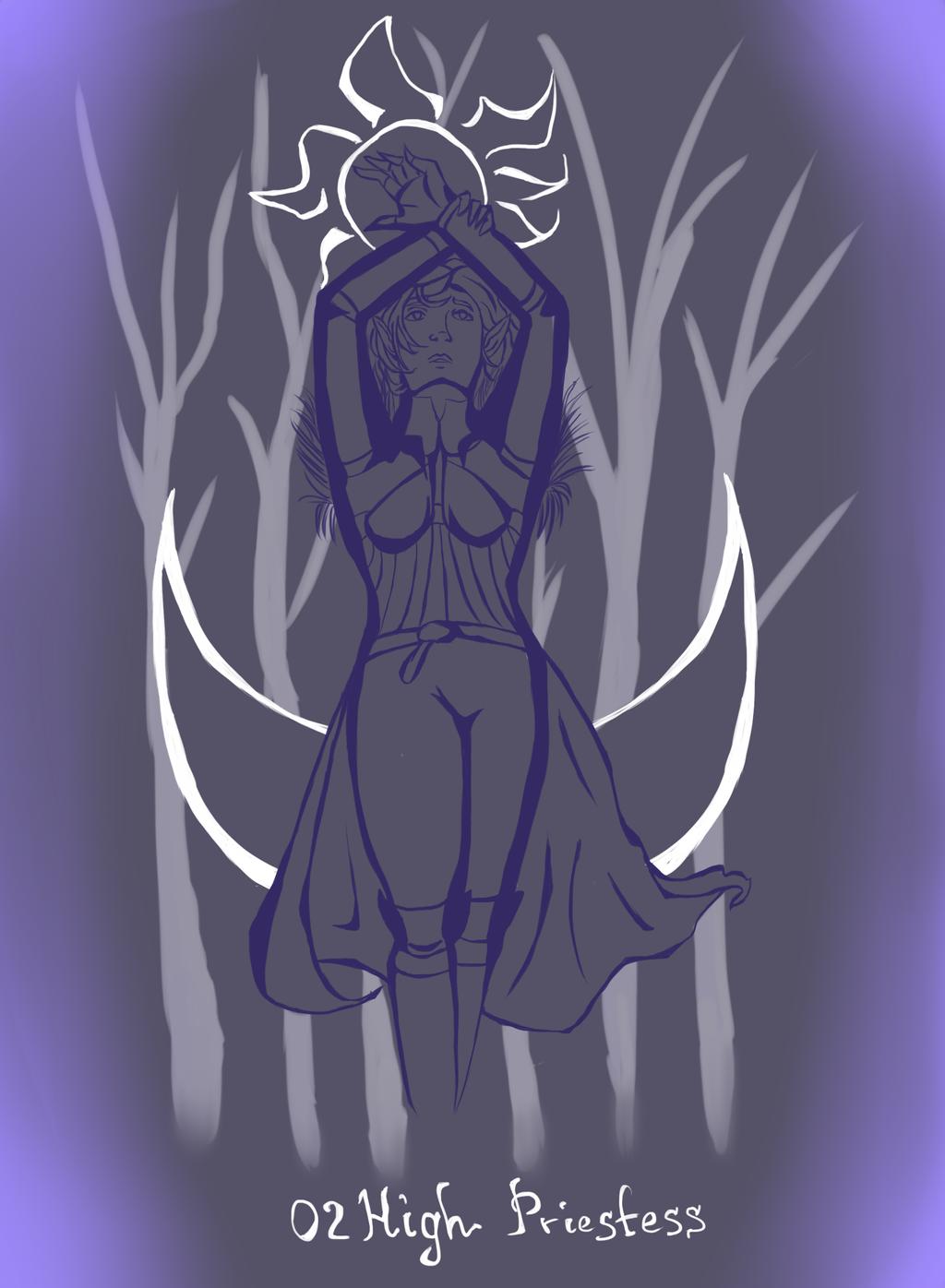 tarot: High priestess Lavellan by Mariel-Sylventari