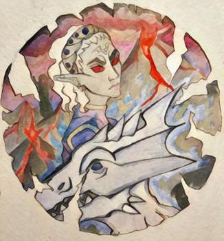 Card: ESO dunmer sorcerer by Mariel-Sylventari