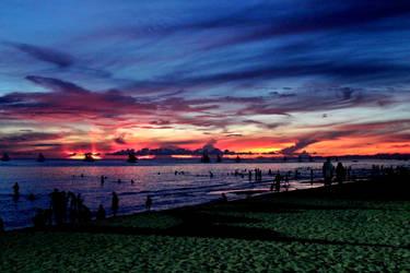 Boracay Sunset by Lalalelilolu
