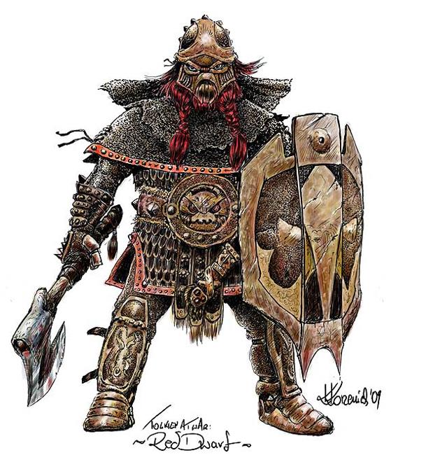 Tolkien - Dwarf by Rzenio