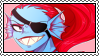 undertale stamp - undyne by hypsistamps
