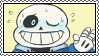 undertale stamp - sans by hypsistamps