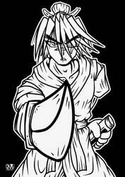 Inktober 1 - Samurai by KMebus