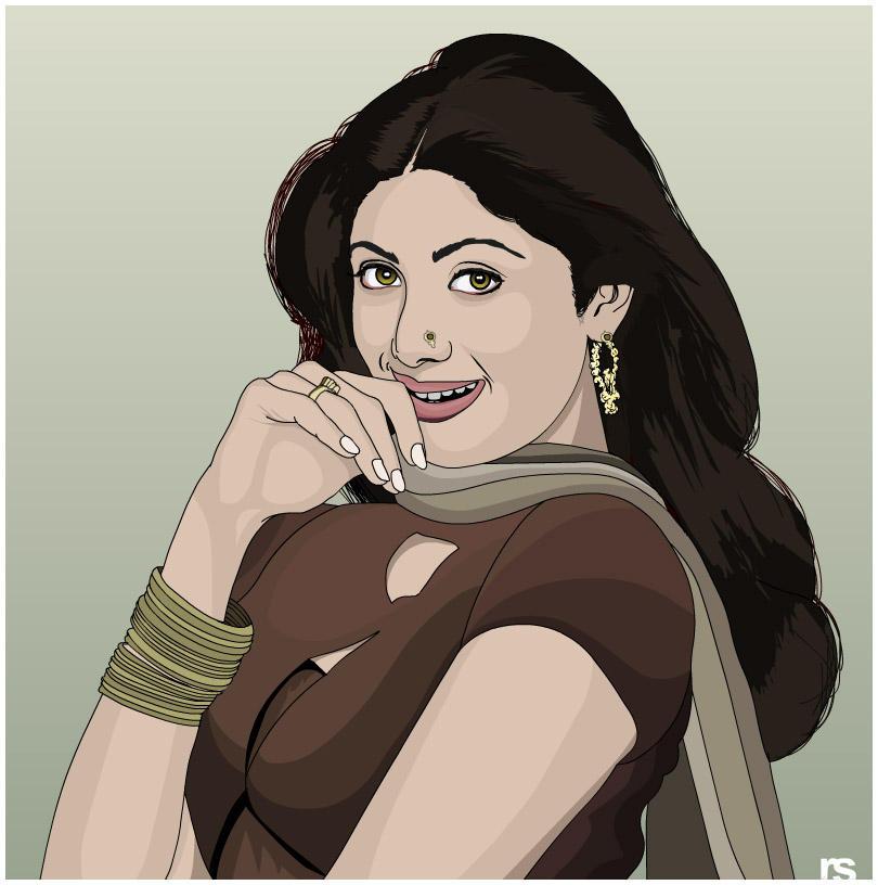 Vector Art - Shilpa Shetty