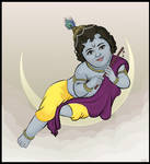 Vector Art - Baby Krishna