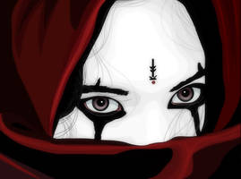 Vector Art - Girl In Red by rames